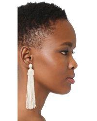 Kenneth Jay Lane - Metallic Tassel Earrings - Lyst