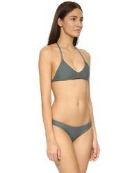 Mikoh Swimwear - Green Uluwatu Racerback Top - Army - Lyst