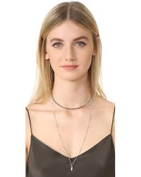 Rebecca Minkoff - Metallic Gemini Collar Necklace - Lyst
