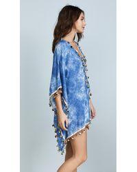Bindya Blue Tie Dye Modal Lace Up Tunic
