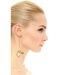Elizabeth and James - Metallic Posy Earrings - Lyst