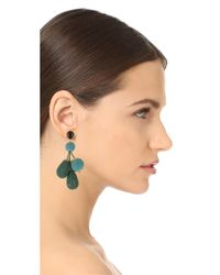 Lizzie Fortunato - Green Meteor Earrings - Lyst