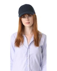 Hat Attack - Blue Canvas Dad Cap - Lyst