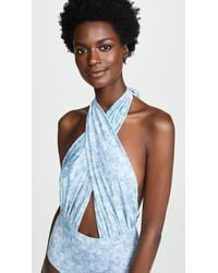 6 Shore Road By Pooja - Blue Cabana Swimsuit - Lyst