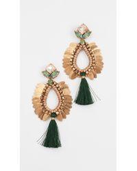 Deepa Gurnani - Green Deepa By Lieu Earrings - Lyst
