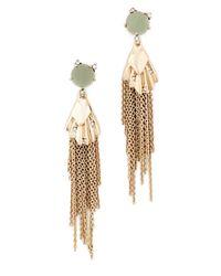 Alexis Bittar | Metallic Dangling Tassel Earrings | Lyst