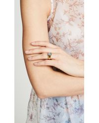 Jacquie Aiche - Metallic Square Crystal Baguette Signet Ring - Lyst