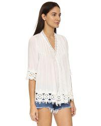 Tiare Hawaii - White Belle Mare Kimono - Lyst