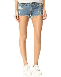 Rag & Bone - Multicolor Cutoff Shorts - Lyst