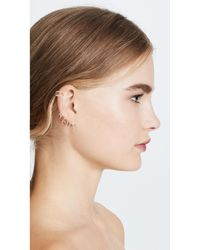 Joanna Laura Constantine - Metallic Crisscross Hoop Earring Set - Lyst