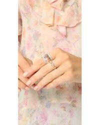 Walters Faith - Metallic Keynes Diamond Hexagon Stackable Ring - Lyst