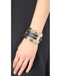 Alexis Bittar - Metallic Crystal Buckle Cuff Bracelet - Lyst
