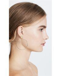 Gorjana - Metallic Chloe Drop Hoop Earrings - Lyst