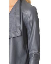 BB Dakota - Gray Gracelyn Drape Front Jacket - Lyst