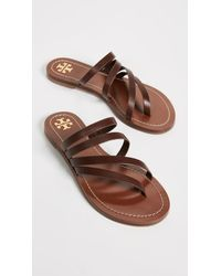 Tory Burch - Brown Patos Flat Sandals - Lyst