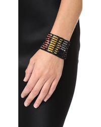 Lulu Frost - Black Josephine Sequin & Silk Bracelet - Lyst