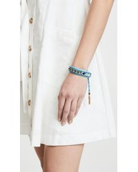 Rebecca Minkoff - Blue Zigzag Seed Bead Friendship Bracelet - Lyst