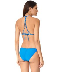Pilyq - Blue Braided Back Triangle Bikini Top - Lyst