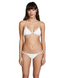 Marysia Swim - Multicolor Triangle Top With French Knot - Lyst