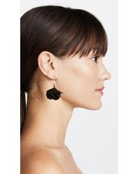 Shashi - Black Rose Drop Earrings - Lyst