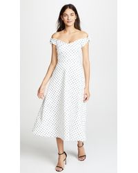 Saloni - White Ruth Dress - Lyst
