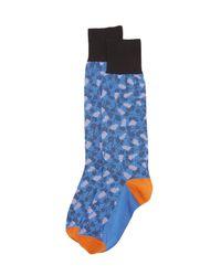 Marni - Blue Patterned Socks - Lyst