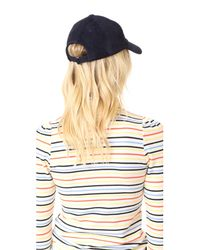 Hat Attack - Blue Suede Baseball Hat - Lyst