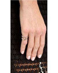 Vita Fede - Metallic Ultra Mini Titan Crystal Band Ring - Lyst