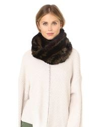 Jocelyn - Black Knitted Fur Infinity Scarf - Lyst