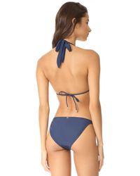 ViX - Blue Midnight Paula Bikini Top - Lyst