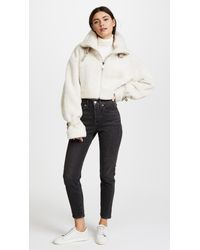M I S B H V - White Inside Out Shearling Jacket - Lyst