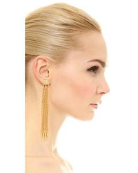 Ben-Amun | Metallic Six Chain Drop Earrings | Lyst