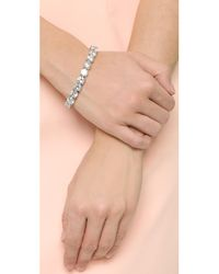 Kenneth Jay Lane - Metallic Cz Bracelet - Lyst