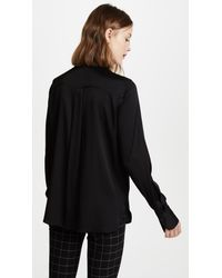 Vince | Black Slim Fitted Blouse | Lyst