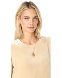 Madewell - Metallic Locket Necklace - Lyst