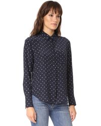 Vince - Blue Refined Dot Slim Shirt - Lyst
