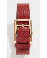 What Goes Around Comes Around - Metallic Hermes Courchevel Medor Watch, 23mm - Lyst