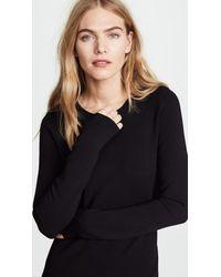 Diane von Furstenberg - Black Crew Neck Knit Dress - Lyst