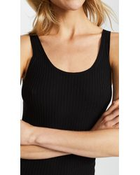 Vince - Black Ribbed Tank - Lyst