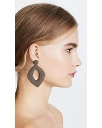 Deepa Gurnani - Gray Kate Erte By Earrings - Lyst