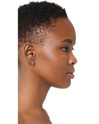 Sydney Evan - Metallic Safety Pin Stud Earrings - Lyst