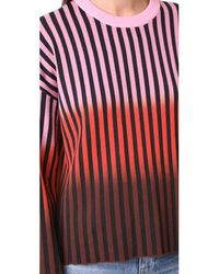 Opening Ceremony - Multicolor Dip Dye Striped Sweater - Lyst