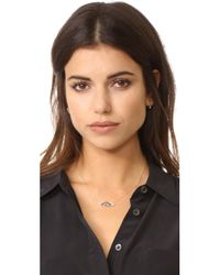 Shashi - Metallic Eye Charm Necklace - Lyst