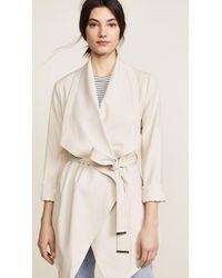 SOIA & KYO - Natural Shannyn Draped Coat - Lyst