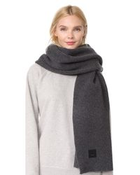 Acne - Gray Bansy L Face Scarf - Lyst