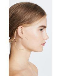 Madewell - Metallic Oversized Hoop Earrings - Lyst