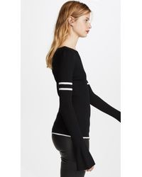 FRAME - Black Rugby Bell Sweater - Lyst