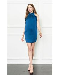 Rachel Zoe   Blue Eden Halter Dress   Lyst