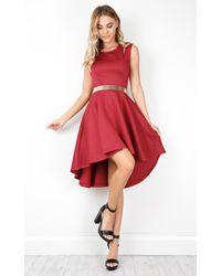 Showpo | Red Hysteria Dress In Wine | Lyst