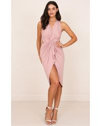 Showpo | Purple Cameras Flashing Dress In Mauve | Lyst